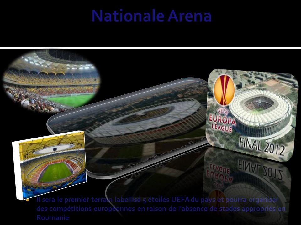 Il sera le premier terrain labellisé 5 étoiles UEFA du pays et pourra organiser des compétitions européennes en raison de l absence de stades appropriés en Roumanie