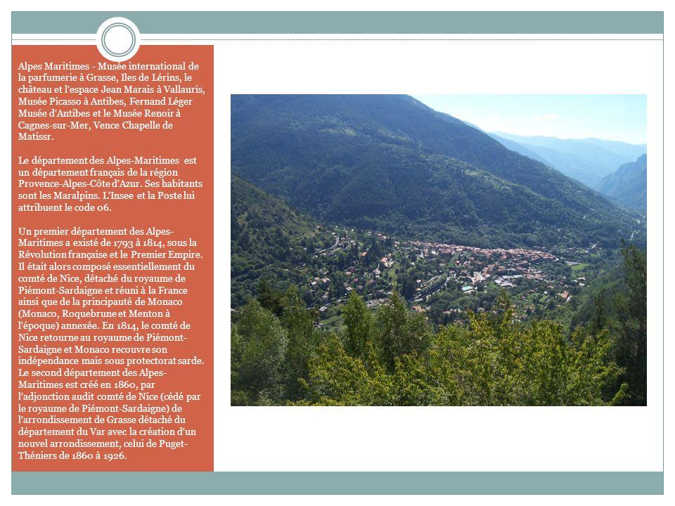 Alpes Maritimes - Musée international de la parfumerie à Grasse, Iles de Lérins, le château et l'espace Jean Marais à Vallauris, Musée Picasso à Antib