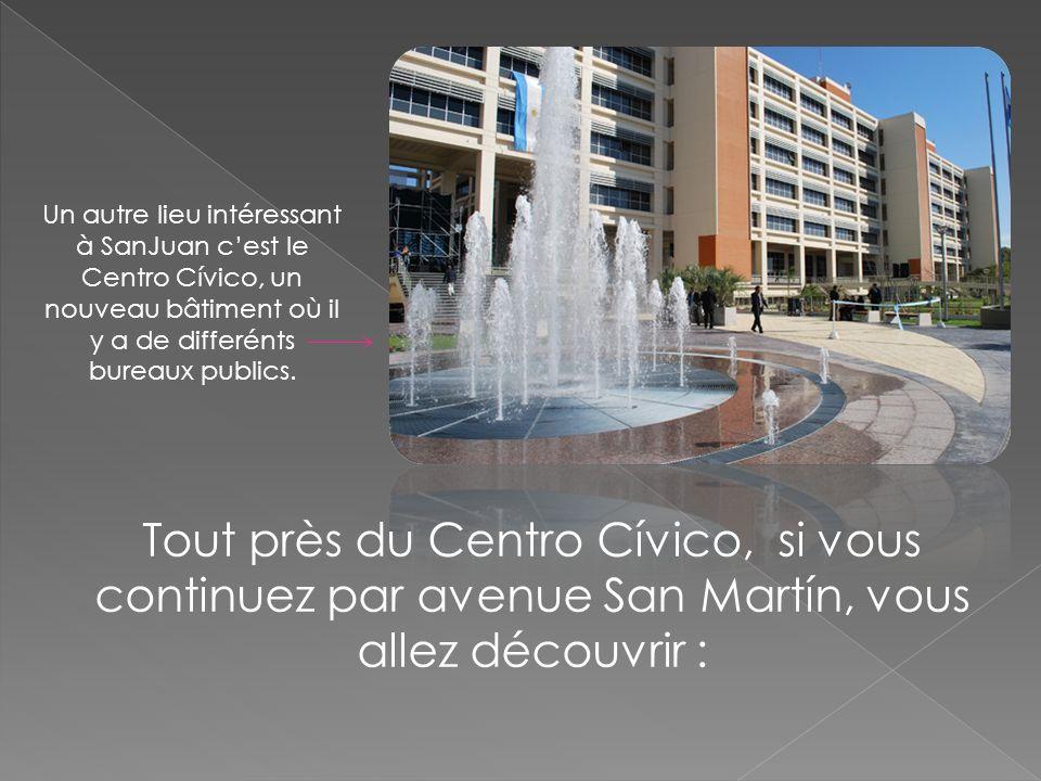Un autre lieu intéressant à SanJuan cest le Centro Cívico, un nouveau bâtiment où il y a de differénts bureaux publics. Tout près du Centro Cívico, si