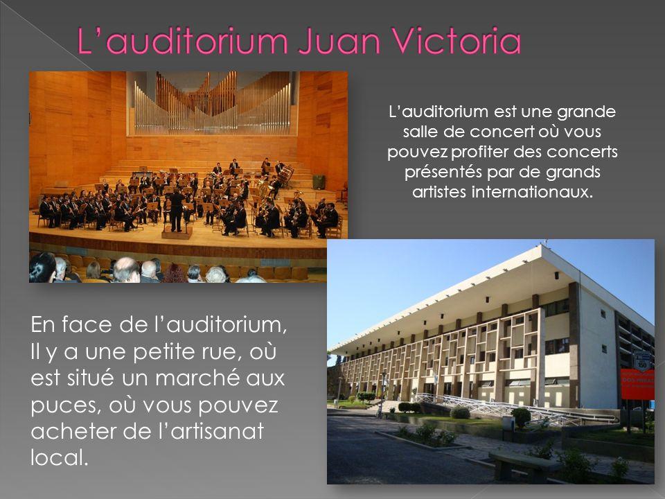 Lauditorium est une grande salle de concert où vous pouvez profiter des concerts présentés par de grands artistes internationaux.