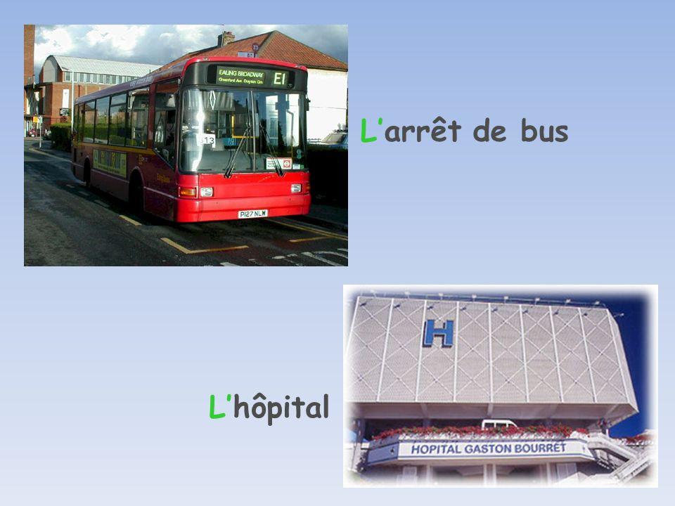 Larrêt de bus Lhôpital