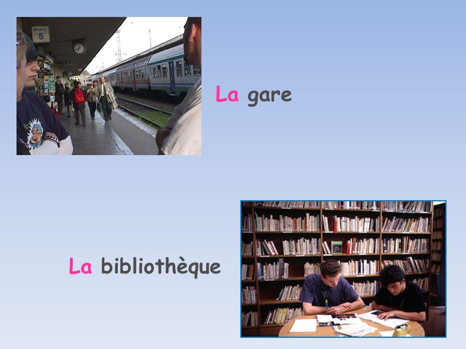 La gare La bibliothèque