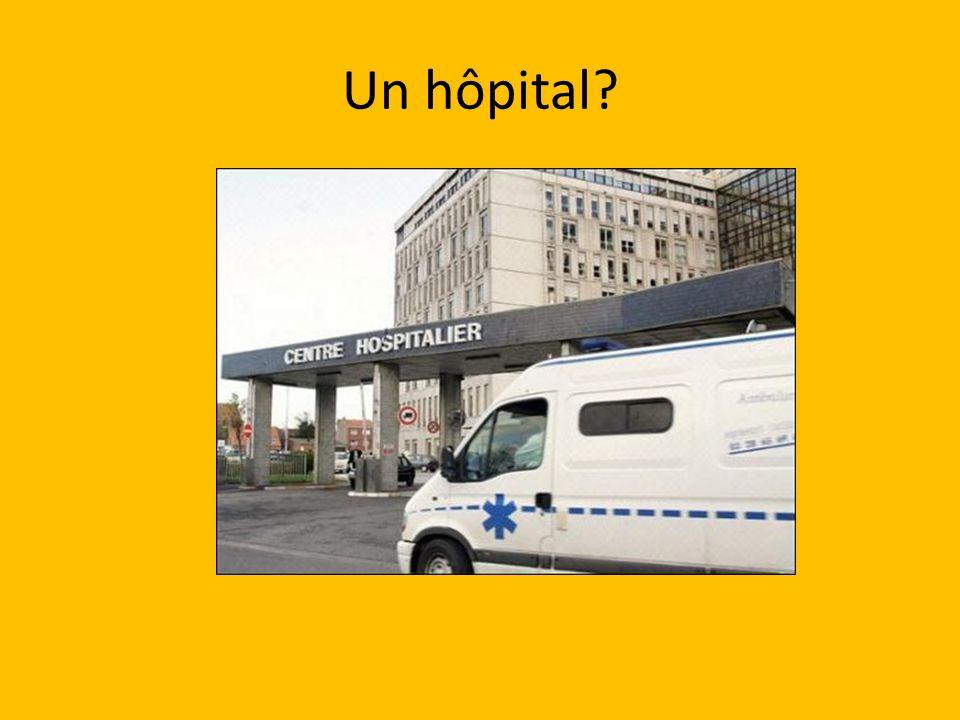 Un hôpital?