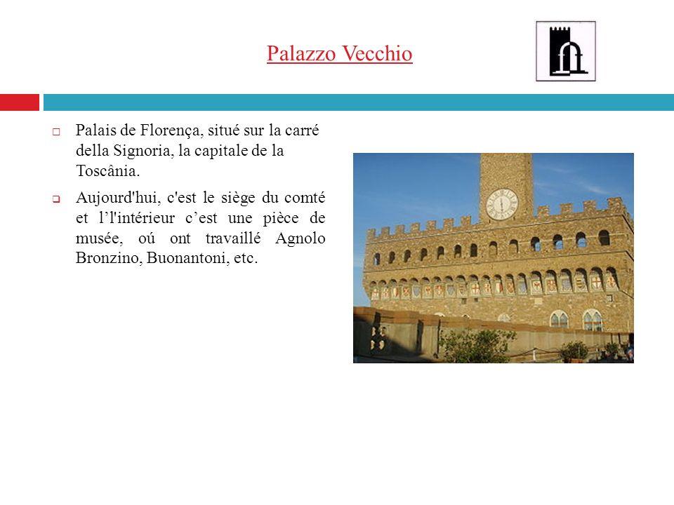 Palazzo Vecchio Palais de Florença, situé sur la carré della Signoria, la capitale de la Toscânia. Aujourd'hui, c'est le siège du comté et ll'intérieu