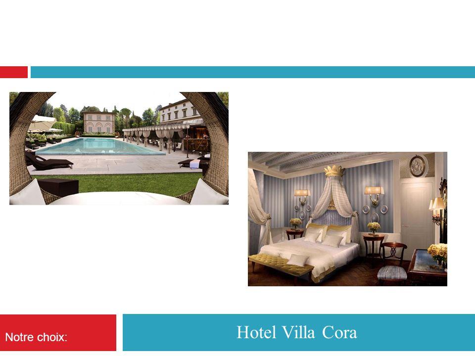 Hotel Villa Cora Notre choix: