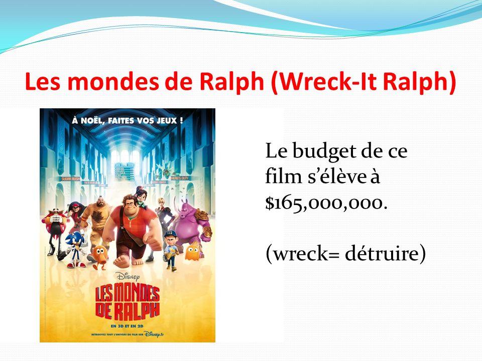 Les mondes de Ralph (Wreck-It Ralph) Le budget de ce film sélève à $165,000,000. (wreck= détruire)