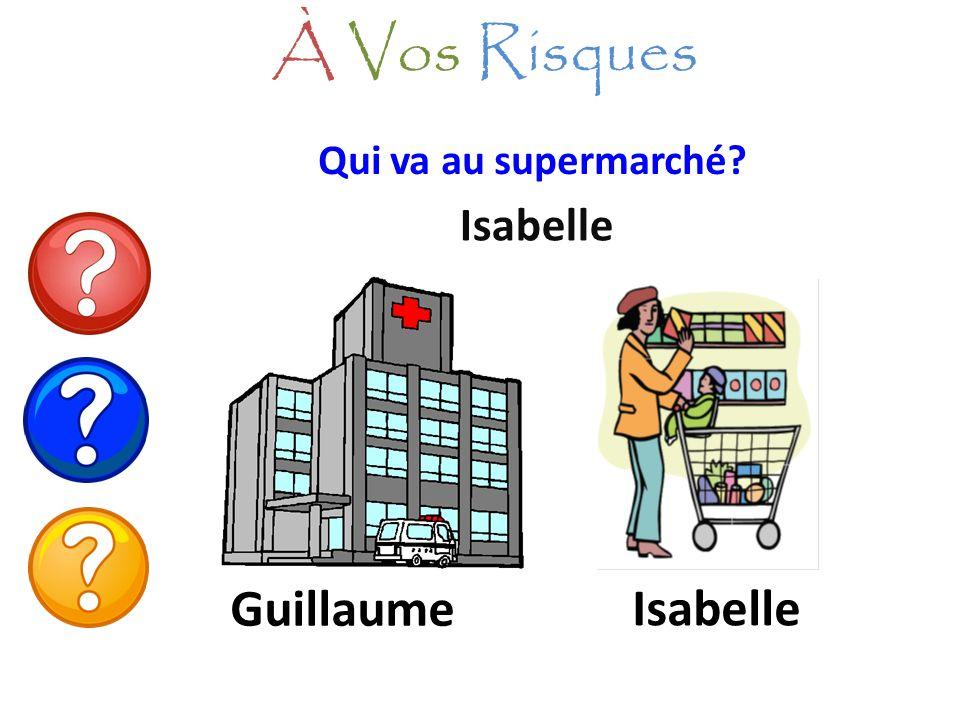 Qui va au supermarché? Isabelle À Vos Risques Guillaume Isabelle