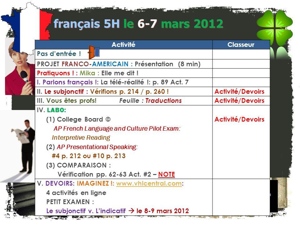 LA CLEF POUR LENTRÉE! français 5H/6AP Le participe présent à la forme composée Créez des phrases en suivant le modèle. Quelle est la différence de ces