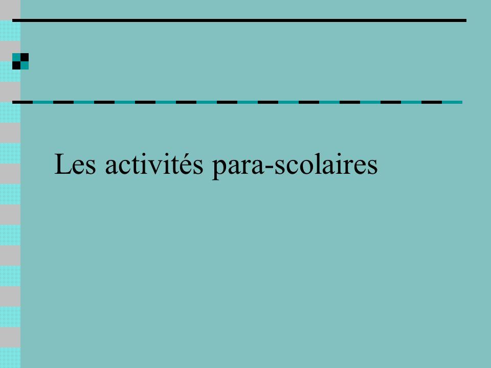 Les activités para-scolaires