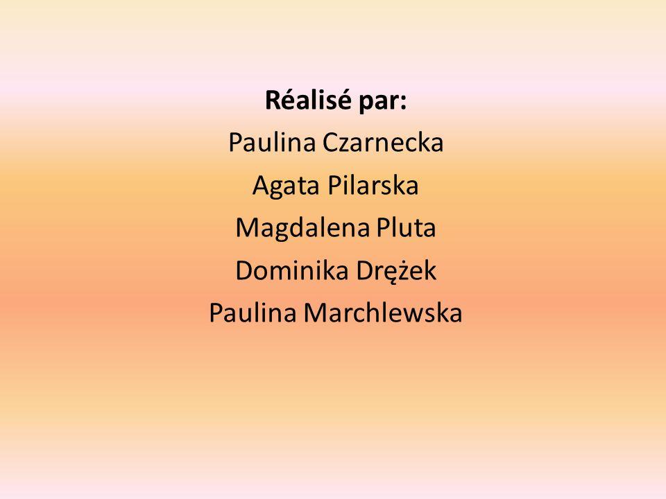 Réalisé par: Paulina Czarnecka Agata Pilarska Magdalena Pluta Dominika Drężek Paulina Marchlewska