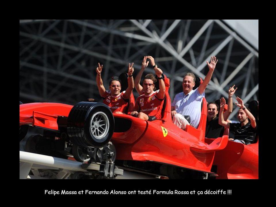Felipe Massa et Fernando Alonso ont testé Formula Rossa et ça décoiffe !!!