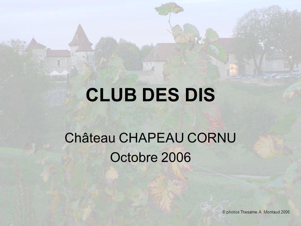 CLUB DES DIS Château CHAPEAU CORNU Octobre 2006 © photos Thesame A. Montaud 2006