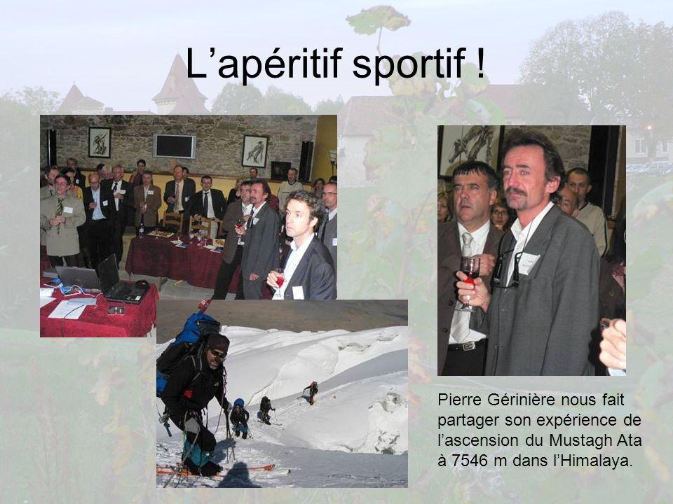 Lapéritif sportif ! Pierre Gérinière nous fait partager son expérience de lascension du Mustagh Ata à 7546 m dans lHimalaya.