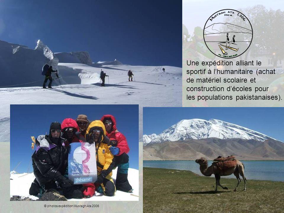 Une expédition alliant le sportif à lhumanitaire (achat de matériel scolaire et construction décoles pour les populations pakistanaises). © photos exp