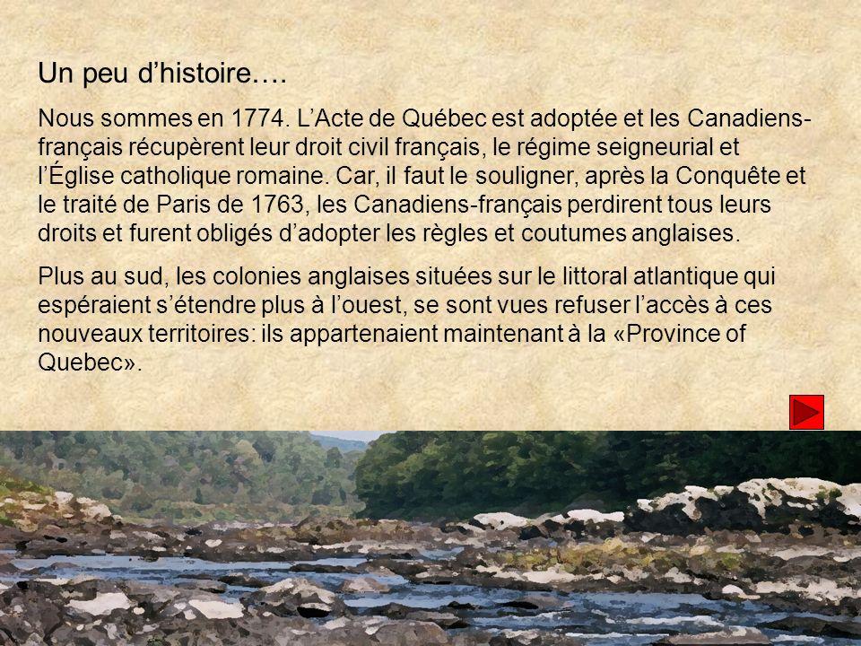 Un peu dhistoire….Nous sommes en 1774.