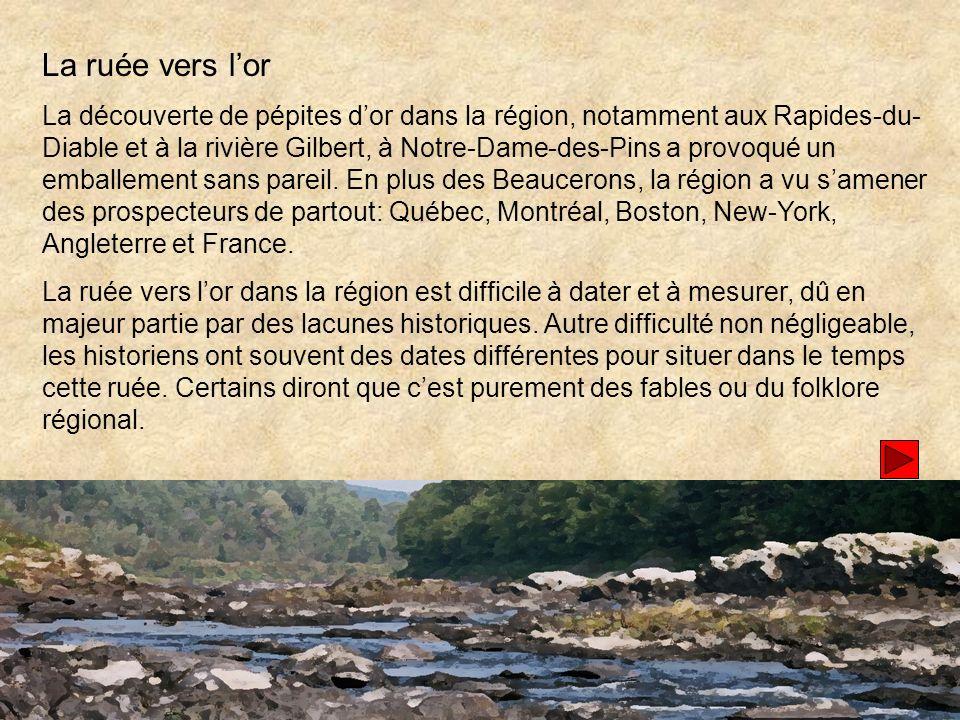 Charles de Léry a été le premier à St-François à demander un permis dexploitation dun site.