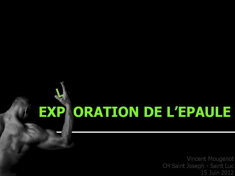 Vincent Mougenot CH Saint Joseph - Saint Luc 15 Juin 2012 L