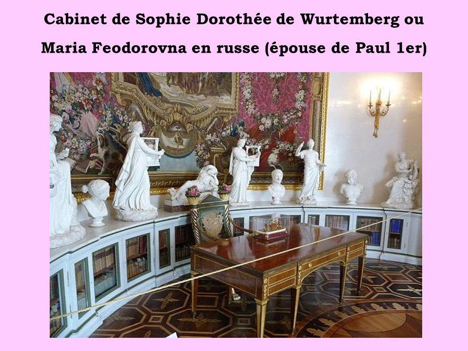 Cabinet de Sophie Dorothée de Wurtemberg ou Maria Feodorovna en russe (épouse de Paul 1er)