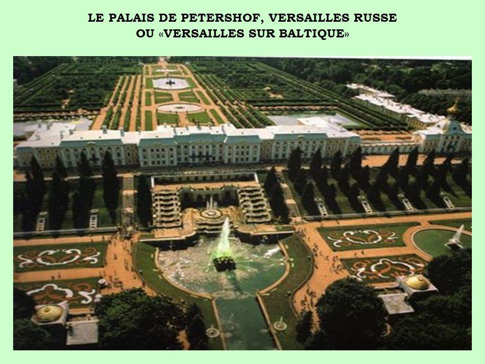 Suite à un voyage en France en 1717 et émerveillé par le château du roi soleil, Pierre le Grand se fit construire un palais quil voulait encore plus grandiose et qui porte son nom.