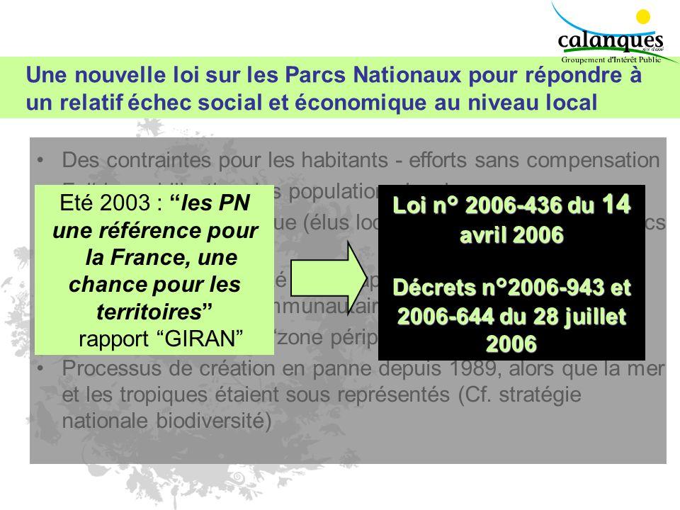 Une nouvelle loi sur les Parcs Nationaux pour répondre à un relatif échec social et économique au niveau local Des contraintes pour les habitants - ef