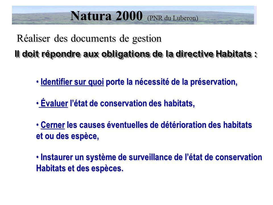 Des exemples dactions dans les domaines suivants…. Réalisation de documents de gestion, Natura 2000 (PNR du Luberon) Gestion du patrimoine (PNR du Lub