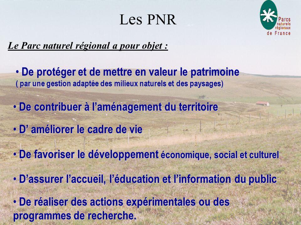 Une charte C'est le contrat qui concrétise le projet de protection et de développement élaboré pour le territoire du parc. La charte fixe: les objecti