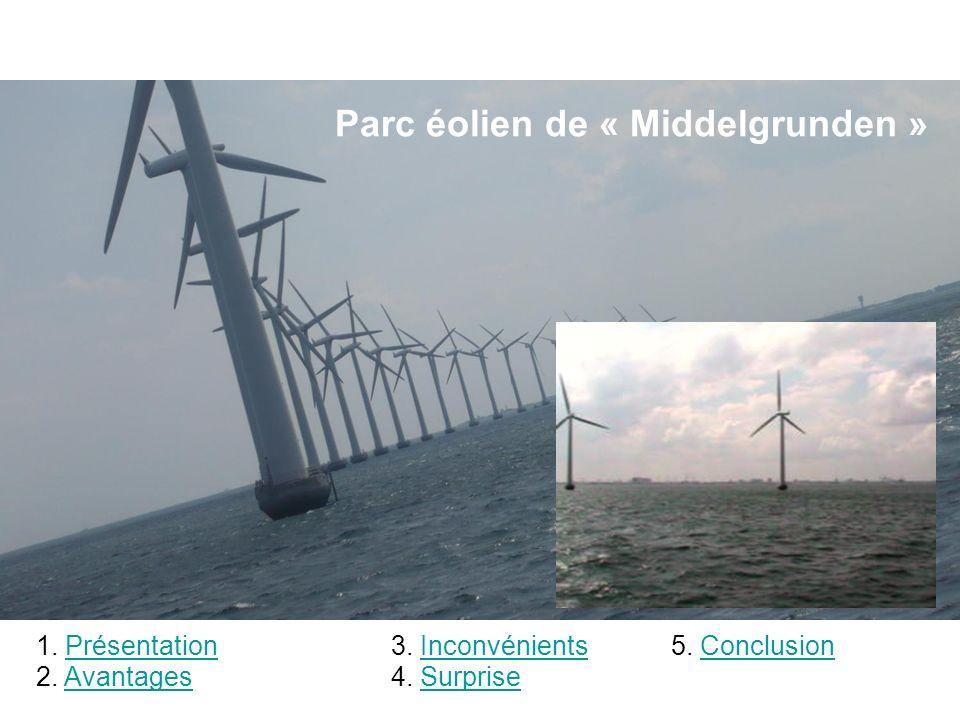 Parc éolien de « Middelgrunden » 1.PrésentationPrésentation 2.