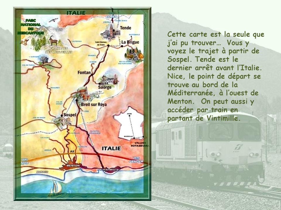 De Nice à Tende, à la frontière italienne, la SNCF a organisé un service touristique avec guide- conférencier à bord. Cette balade permet de découvrir
