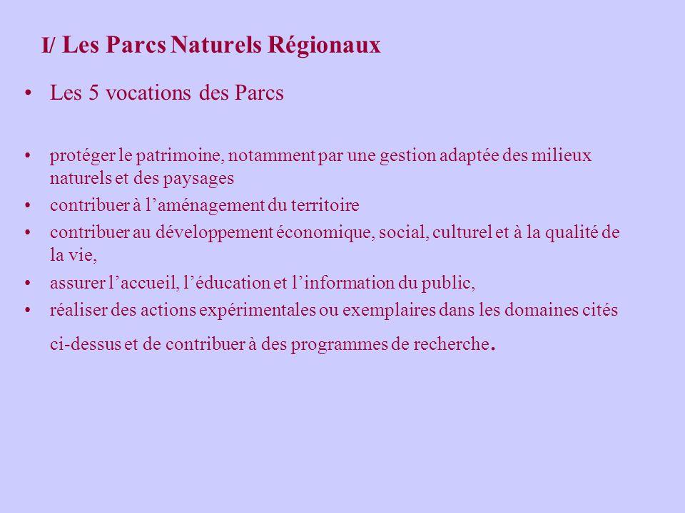 I/ Les Parcs Naturels Régionaux Un Parc naturel Régional… un territoire remarquable équilibre fragile un projet de coopération formalisée au travers d