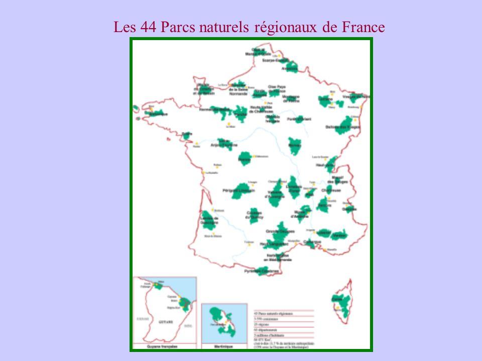 Les 44 Parcs naturels régionaux de France