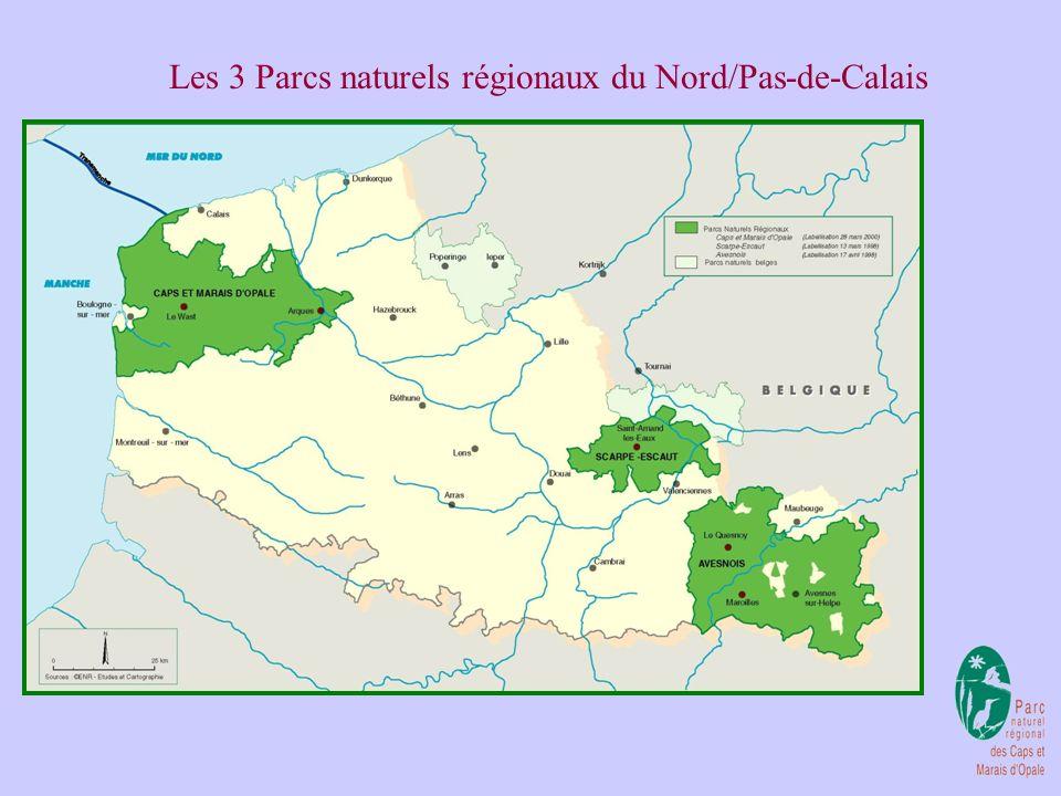 Les 3 Parcs naturels régionaux du Nord/Pas-de-Calais