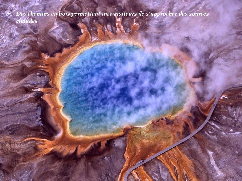 Grand Prismatic Spring D un diamètre de 75 mètres, le Grand Prismatic Spring est la plus grande source d eau chaude du monde.
