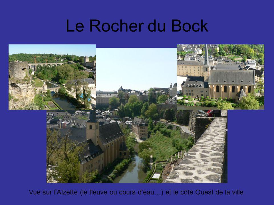 Le Rocher du Bock Vue sur lAlzette (le fleuve ou cours deau…) et le côté Ouest de la ville