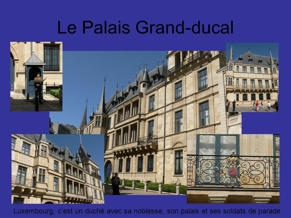 Le Palais Grand-ducal Luxembourg, cest un duché avec sa noblesse, son palais et ses soldats de parade