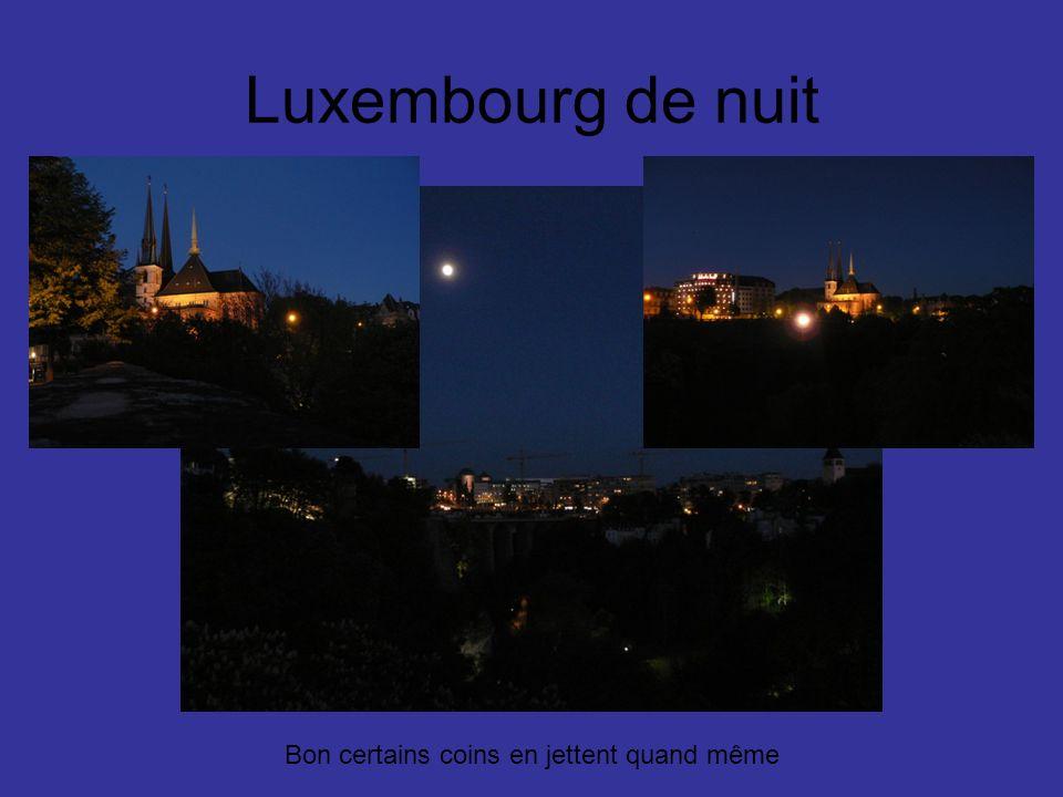 Luxembourg de nuit Bon certains coins en jettent quand même