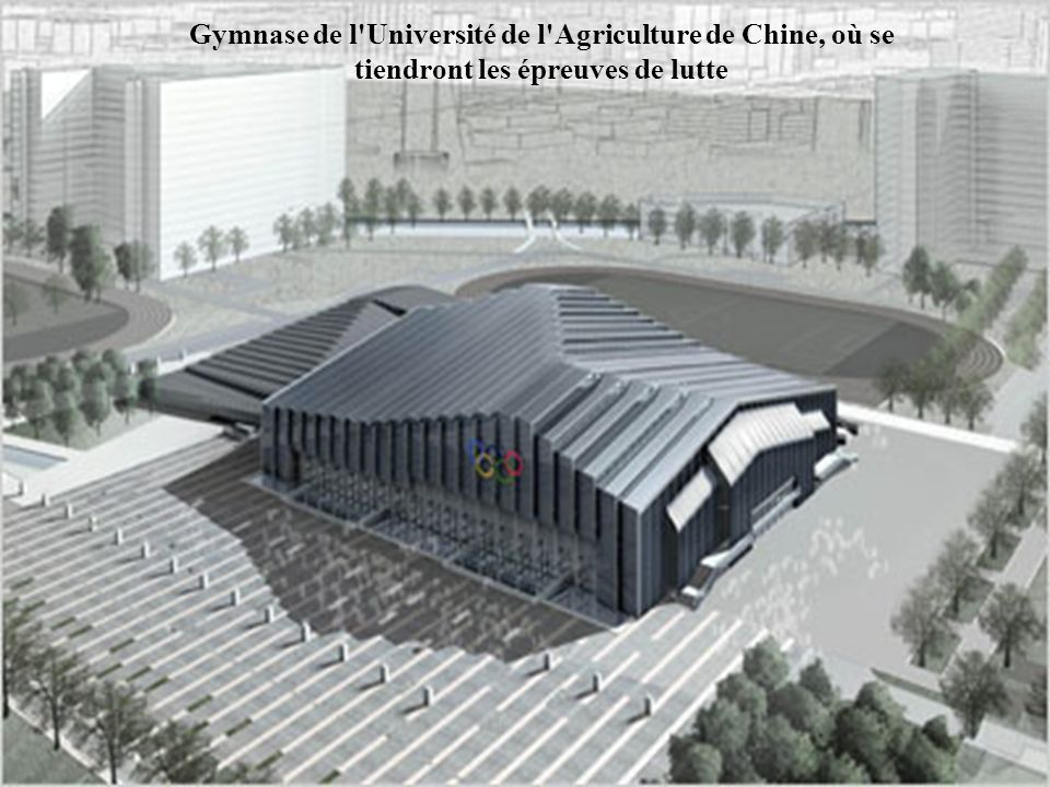 Le Parc aquatique Olympique de Shunyi où se tiendront les compétitions d aviron, canoë-kayak (eaux calmes et slalom)