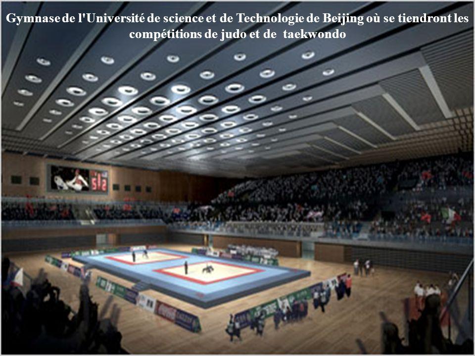 Gymnase de l Université de Beijing où se tiendront les épreuves de tennis de table