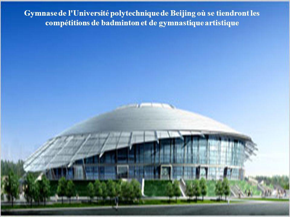 Gymnase de l Université de science et de Technologie de Beijing où se tiendront les compétitions de judo et de taekwondo