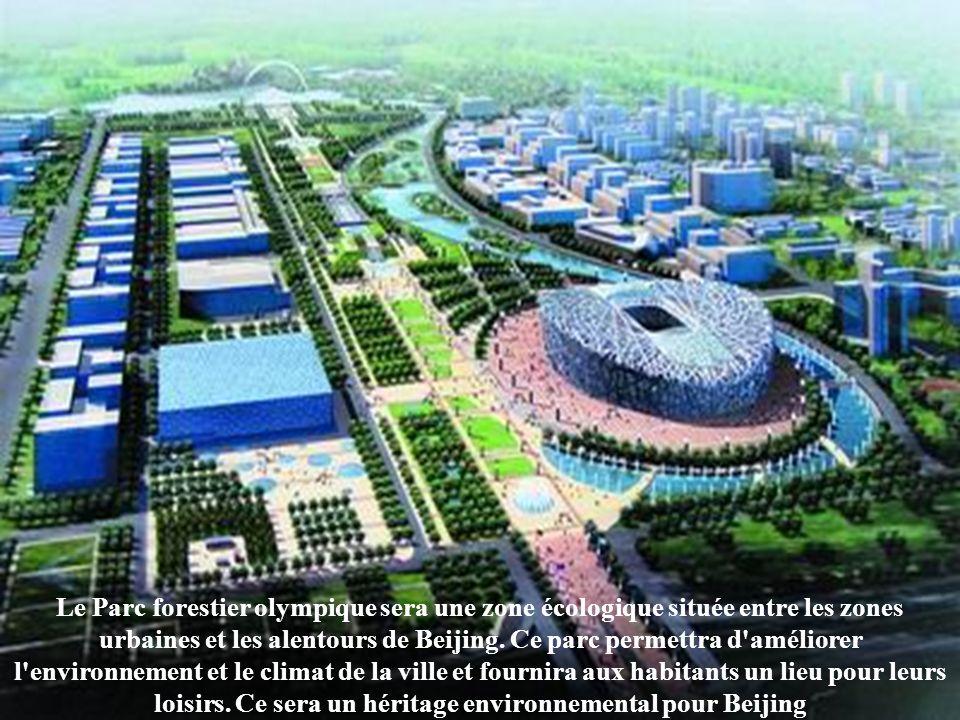 Le Parc forestier olympique sera une zone écologique située entre les zones urbaines et les alentours de Beijing.