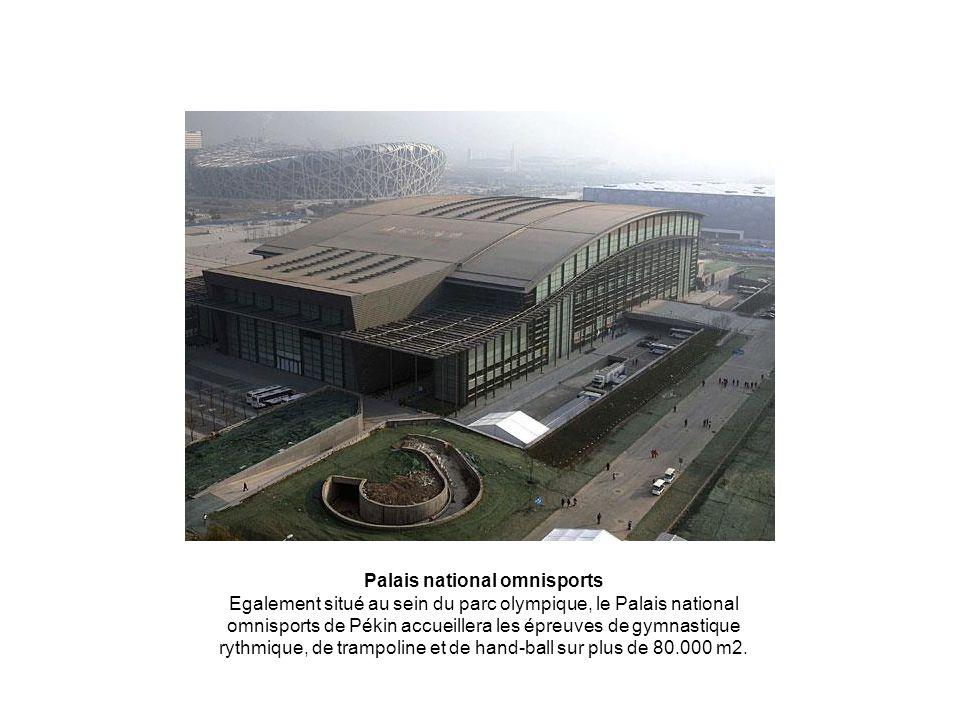 Palais national omnisports Egalement situé au sein du parc olympique, le Palais national omnisports de Pékin accueillera les épreuves de gymnastique r