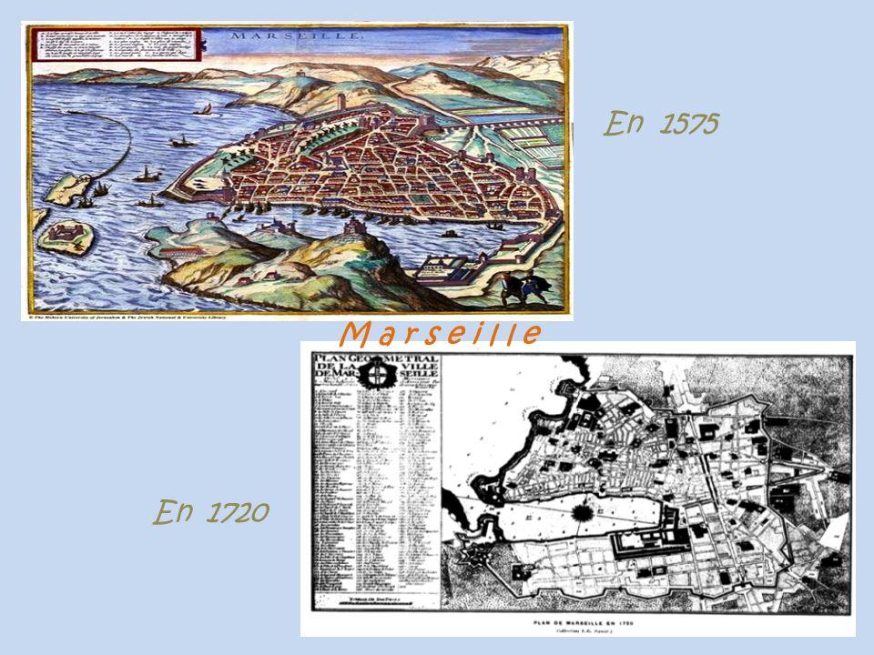 Martigues le port de Jonquières, en haut à gauche la chapelle Notre-Dame-des-Marins