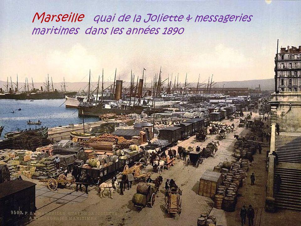 Marseille quai de la Joliette & messageries maritimes dans les années 1890