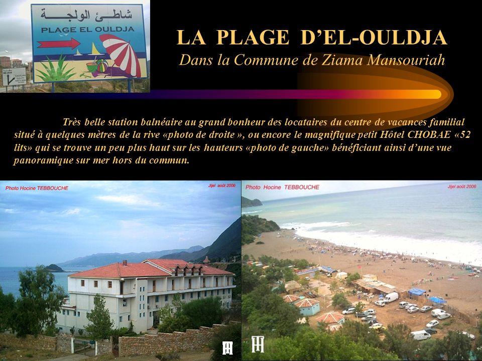 LA PLAGE DEL-OULDJA Dans la Commune de Ziama Mansouriah Très belle station balnéaire au grand bonheur des locataires du centre de vacances familial si