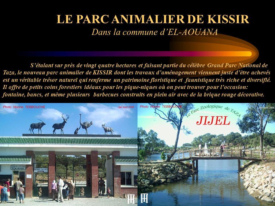 LE PARC ANIMALIER DE KISSIR Dans la commune dEL-AOUANA Sétalant sur près de vingt quatre hectares et faisant partie du célèbre Grand Parc National de