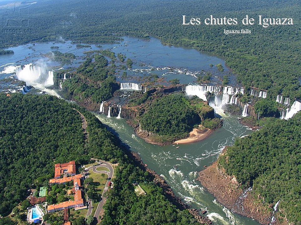 This next waterfall consists of about 270 falls along 2.7 kilometers of the Iguazu River. Some of the individual falls are up to 82 meters in height,