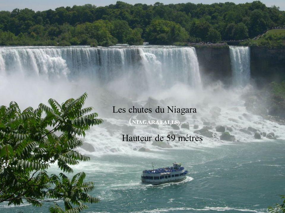 Les chutes du Niagara ( NIAGARA FALLS) Hauteur de 59 métres