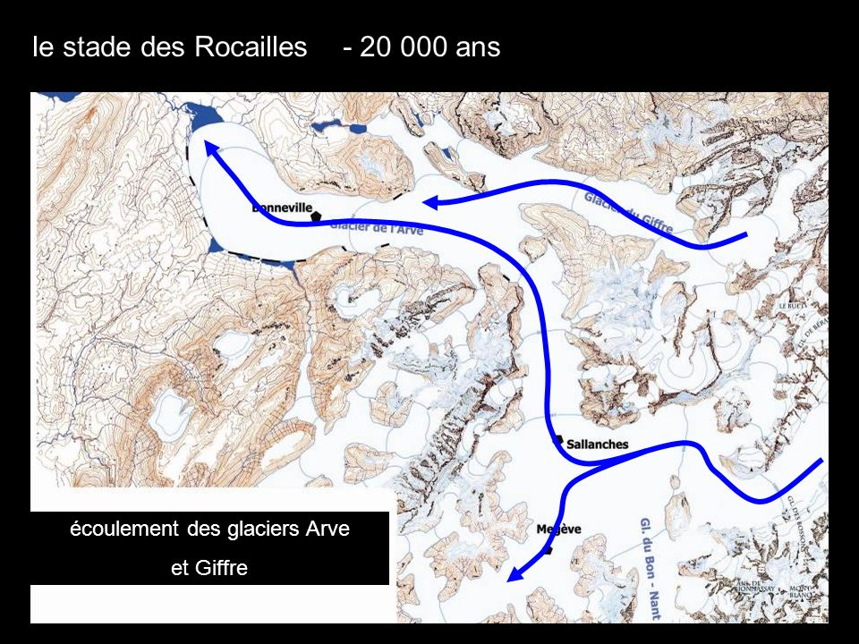 le stade des Rocailles dans la basse vallée de lArve moraines latérales la Roche sur Foron xyz