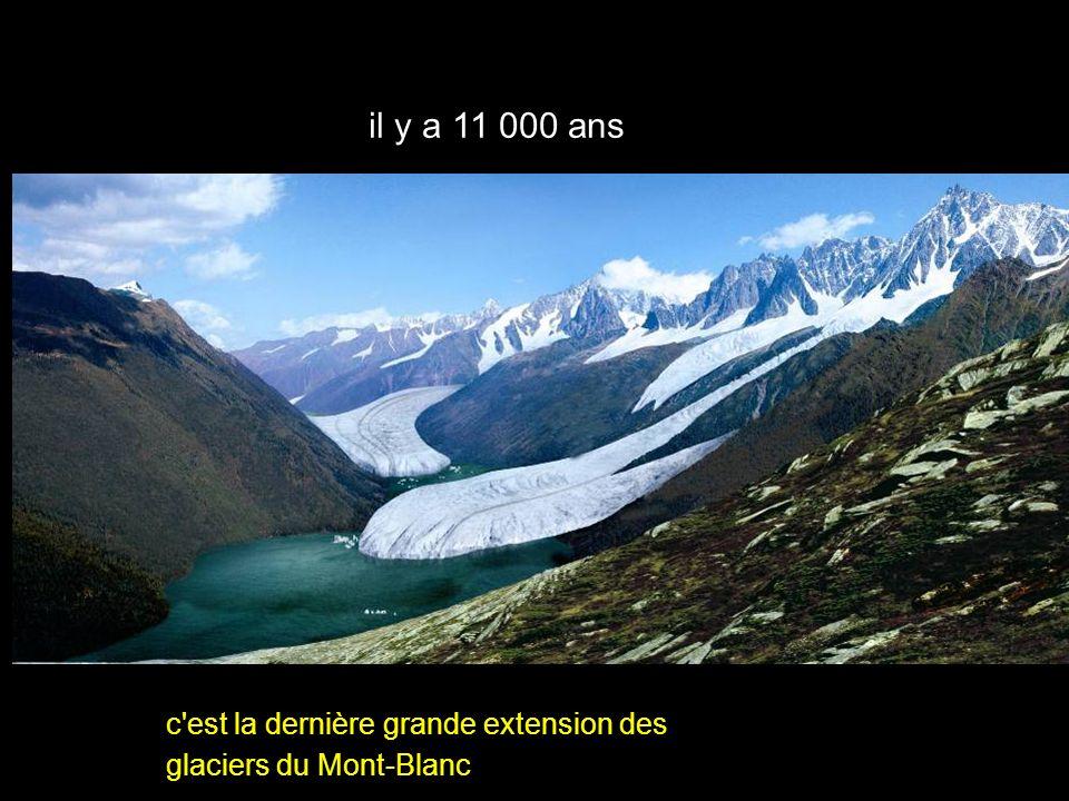 xyz il y a 11 000 ans la vallée de Chamonix c'est la dernière grande extension des glaciers du Mont-Blanc