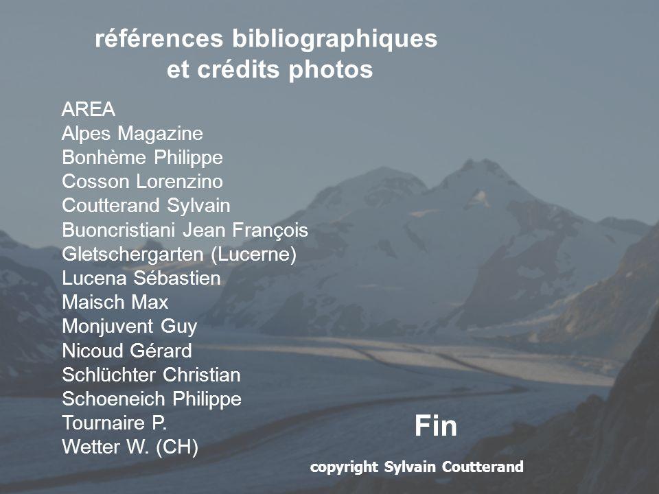 références bibliographiques et crédits photos AREA Alpes Magazine Bonhème Philippe Cosson Lorenzino Coutterand Sylvain Buoncristiani Jean François Gle