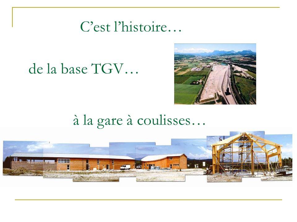 de la base TGV… Cest lhistoire… à la gare à coulisses…
